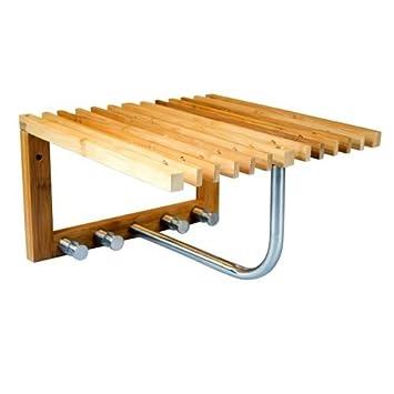 bambus garderobe mit kleiderhaken und hutablage feiwvfa. Black Bedroom Furniture Sets. Home Design Ideas