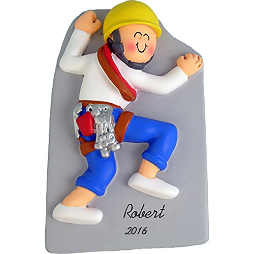 Rock Climber Boy Personalized Christmas Ornament