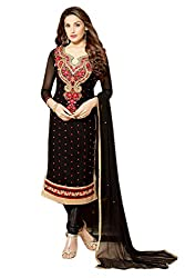 Lebaas Festival Special Black Georgette With Embroidery Work(With Discount and Sale Offer)