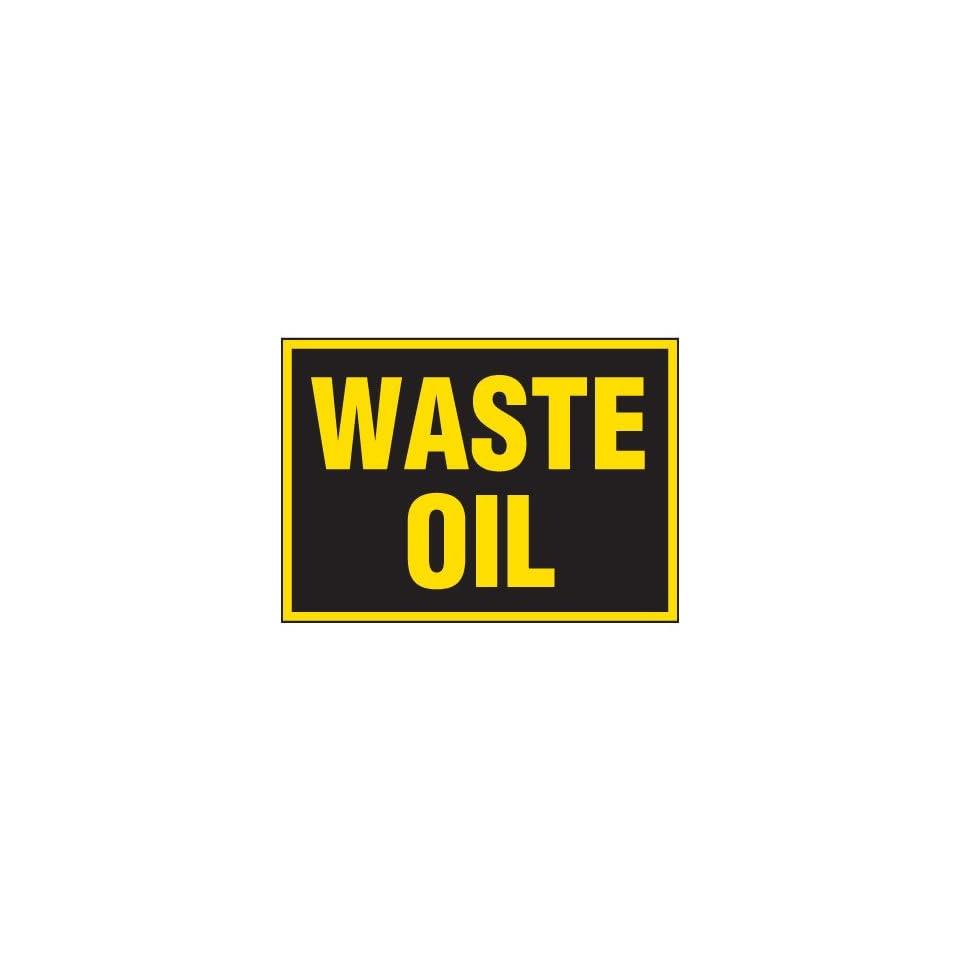 Emedco Self Adhesive Vinyl Waste Oil Label (Pack of 5) Industrial Warning Signs