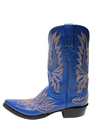 Buy Lucchese Boots New Nova Blue Goat Mens - GC9153.53 by Lucchese