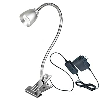 luminturs tm 3w led clip clamp lamp desk book light. Black Bedroom Furniture Sets. Home Design Ideas