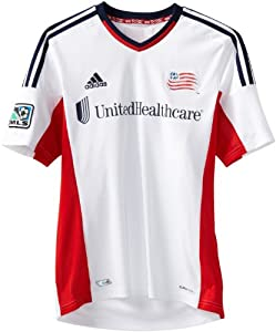 MLS New England Revolution Replica Away Jersey, White by adidas