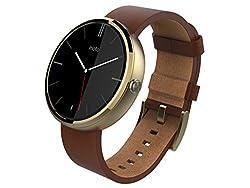 Motorola Moto 360 Smart Watch Cognac Leather Champagne