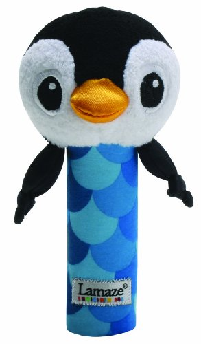 Lamaze High-Contrast Bend And Squeak Toy, Penquin front-928890