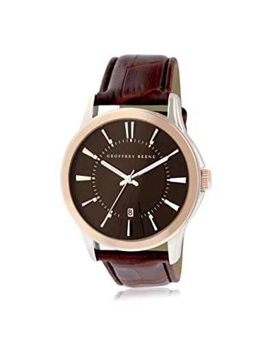 Geoffrey Beene Men's GB8070TTRBN Brown Leather Watch