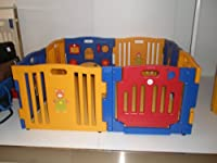 Baby Diego Cub'Zone Playpen and Activity Center, Yellow/Blue/Red by Baby Diego