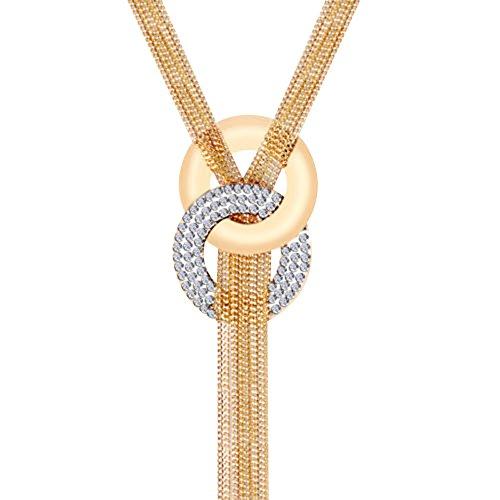 Contever-Lange-Kette-Y-Form-Halskette-Quaste-Chunky-Kollier-Statement-Gold