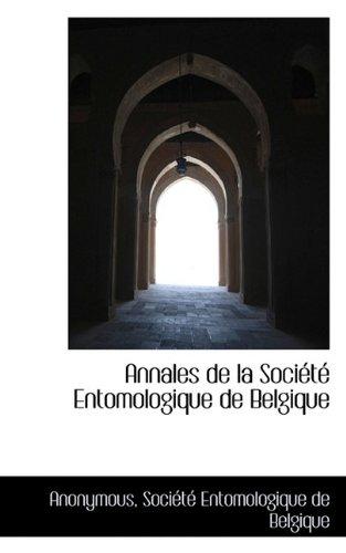Annales de la Société Entomologique de Belgique