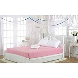 Shahji Creation Double Bed Multi color 6X6.5 feet best quality Mosquito Net