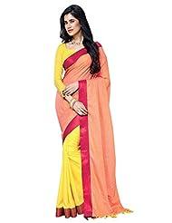 AASRI Women Festival Wear Cotton Blend Printed Zari Border Multicolour Saree - B00O8XWMYC