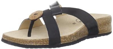 Haflinger Women's Tricia New Thong Sandal,Black,36 EU/5 M US
