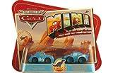 Cars Mini 2Pk Dinoco Lightning Mcqueen/Dinoco Chick Hicks