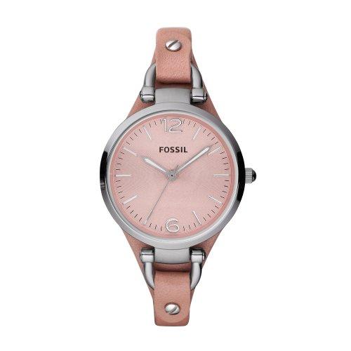 Fossil ES3076 Ladies GEORGIA Leather Cuff Watch