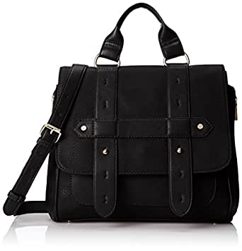Co-Lab by Christopher Kon Adrianna Satchel Top Handle Bag, Black, One
