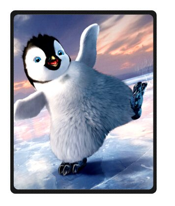 "Personalized Christmas Penguins Fleece Blanket Throws 40"" X 50"" (Small)"