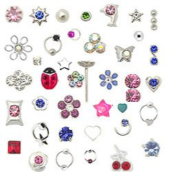 Silver Nose Studs Rings Mixed Sizes 22G: Body Piercing Rings: Jewelry