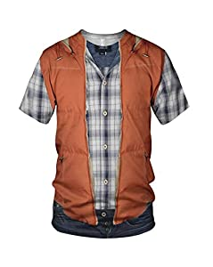 All Over Print Marty McFly Costume Chest Men's Fashion T Shirt