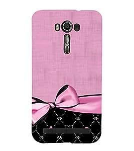 Pink Bow Pattern 3D Hard Polycarbonate Designer Back Case Cover for Asus Zenfone 2 Laser ZE500KL (5 INCHES)