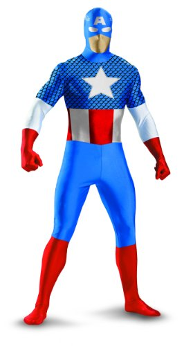 Disguise Marvel Captain America Lycra Bodysuit Mens Adult Costume