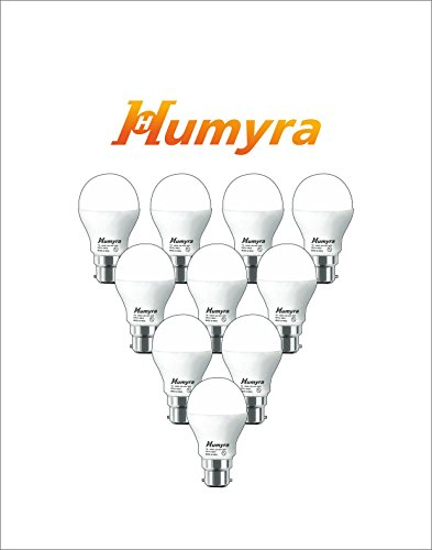 Humyra 7W LED BULB - Cool Day Light - Pack Of 10 - 2 Years Of Warranty - Energy Saving And Eco-friendly Bulbs...