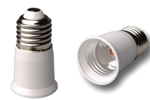 Niceeshop(Tm) E27 To E27 Led Saving Energy Bulb Holder Adapter Converter Extender-White
