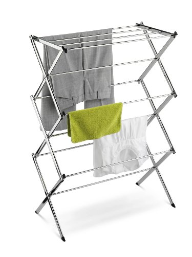 Honey-Can-Do DRY-01234 Commercial Clothes-Drying Rack, Chrome