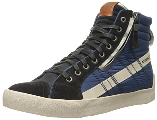 Diesel Men's D String Plus Fashion Sneaker, Anthracite/Dark