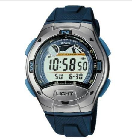 De los hombres de con pantalla Digital de Casio deportes de mareas es y diseño de luna y gráficos de la reloj de pulsera para mujer de freno con alarma por la ultimatesalestore