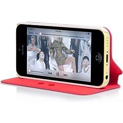 Capdase Sider Baco Folder Case for Apple iPhone 5C - Red (FCIHM-SB92)