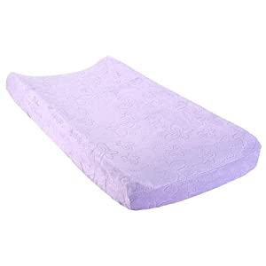 Babies'R'Us Embossed Changing Pad Cover - Lilac Butterfly