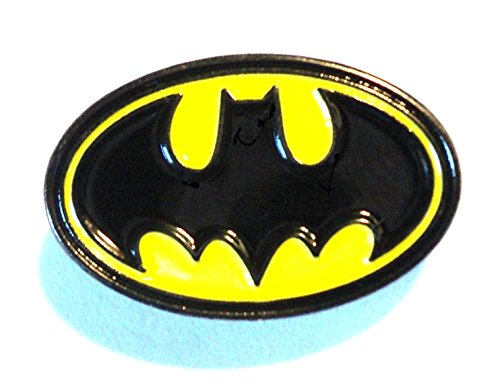 Batman Bat Segnale Indicativo giallo e nero spilla in metallo smaltato