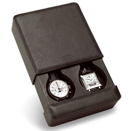 Venlo Italian Leather Two Holder Travel Watch Case