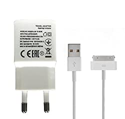 Link+ 2.1A Travel Charger And Data Cable For Apple Iphone 4s