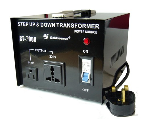 Goldsource ST-2000 2000 Watt Step Down/Up Voltage Converter To Use US Equipment In the UK or Europe and Vice Versa... Black Friday & Cyber Monday 2014
