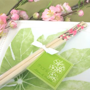 Cherry Blossom Chopsticks - Baby Shower Gifts & Wedding Favors (Set of 24)