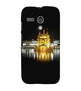 Fuson Premium Sona Mandir Printed Hard Plastic Back Case Cover for Motorola Moto G