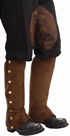 Steampunk Suede Spats Color: Brown (one size)