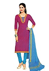 Divisha Fashion Women Cotton Dress Material (Dfsgp224 _Pink)