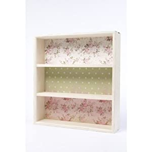 Small Floral Wooden Shelf Country Style Wall Shelf