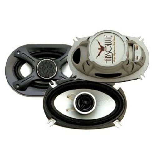 Absolute Z46 4X6 Inch 2-Way Chromed Polypropylene Coaxial Speaker