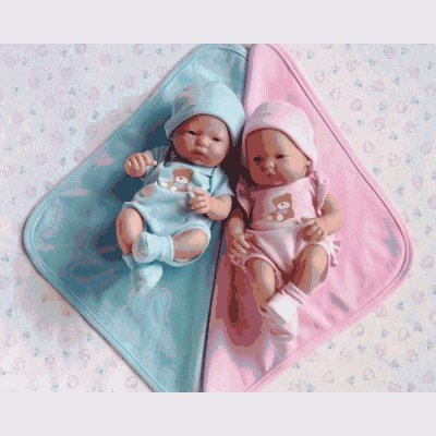 "Mini La Newborn 9.5"" Real Boy Blue Blanket Caucasian Berenguer Doll - Assorted Faces"
