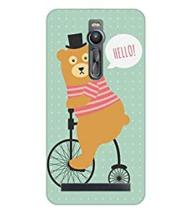 Happoz ASUS Zenfone 2 ( ZE551ML ) Cases Back Cover Mobile Pouches Shell Hard Plastic Graphic Armour Premium Printed Designer Cartoon Girl 3D Funky Fancy Slim Graffiti Imported Cute Colurful Stylish Boys D031
