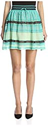 M Missoni Women's Knit Mini Skirt, Mint, 40 IT/6 US