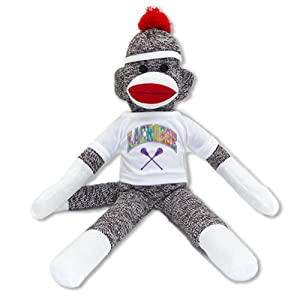 Small Lacrosse Sock Monkey by 4WoodenShoes