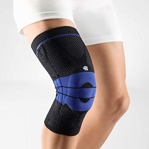 Bauerfeind - GenuTrain - Knee Support Brace - Targeted Support for Pain Relief and Stabilization of The Knee - Size 5, Comfort - Color Black (Color: Black, Tamaño: 5C)
