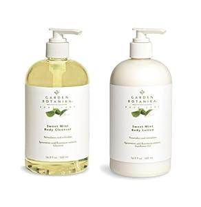 Garden Botanika Sweet Mint Body Cleanser & Body Lotion - Made in USA - Cruelty Free from Garden Botanika Inc