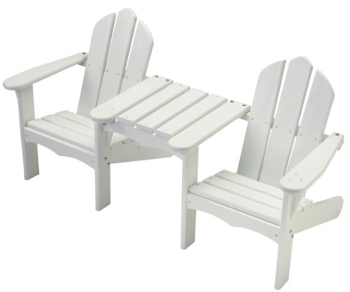 Little Colorado Child's Adirondack Tete-A-Tete Chair- White
