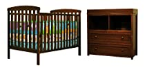 Hot Sale Athena Leila 2 Piece Nursery Set, Espresso