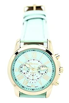 buy Daisy*Vzu Women Stylish Geneva Numerals Faux Leather Analog Quartz Wrist Watch Mint Green